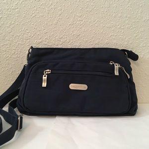 Baggallini Everyday Cross-body Bag - Black/Tan